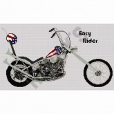 Easy Rider Chopper - Cross Stitch
