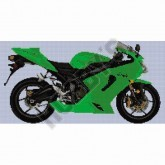 Kawasaki ZXR6 Ninja - Cross Stitch