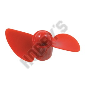 Propellers Red Nylon M4 50mm Dia