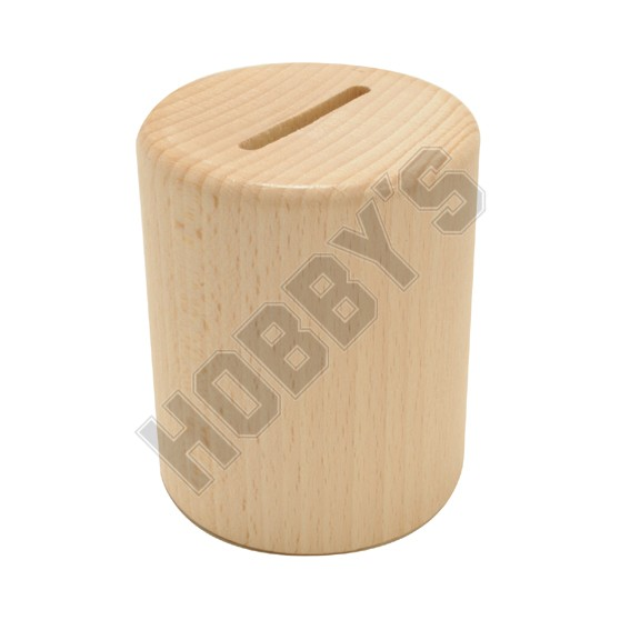 Wooden Money Box with Plastic lock