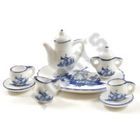 Delft Style Blue Tea Service