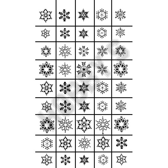 Snowflakes 10 Different Designs, 45 In Total
