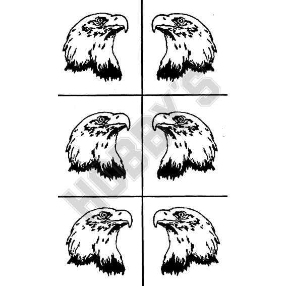 Eagle Heads X  6