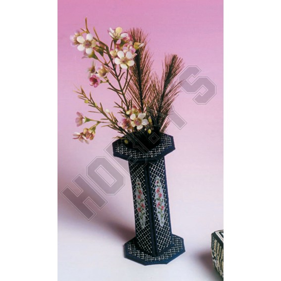 Rosebud Vase - Cross Stitch