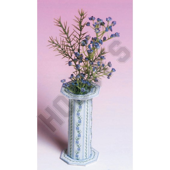 Periwinkle Vase-Cross Stitch
