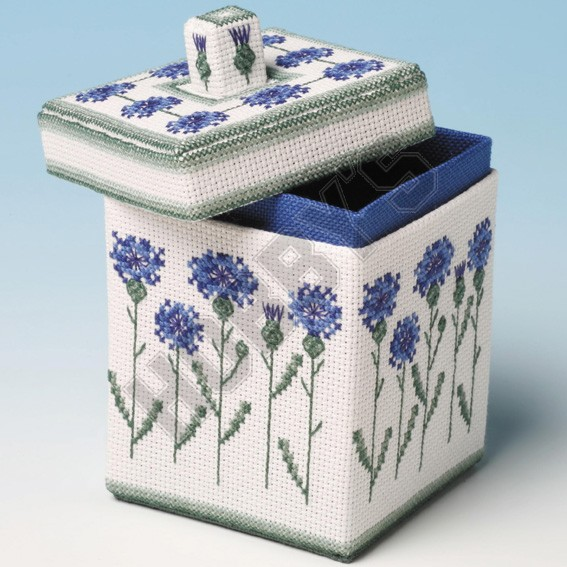 Cornflower Box-Cross Stitch