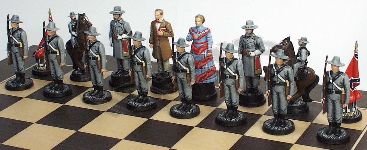 Confederate Chess Set