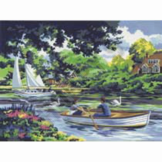 Painting By Numbers - Boating On The River
