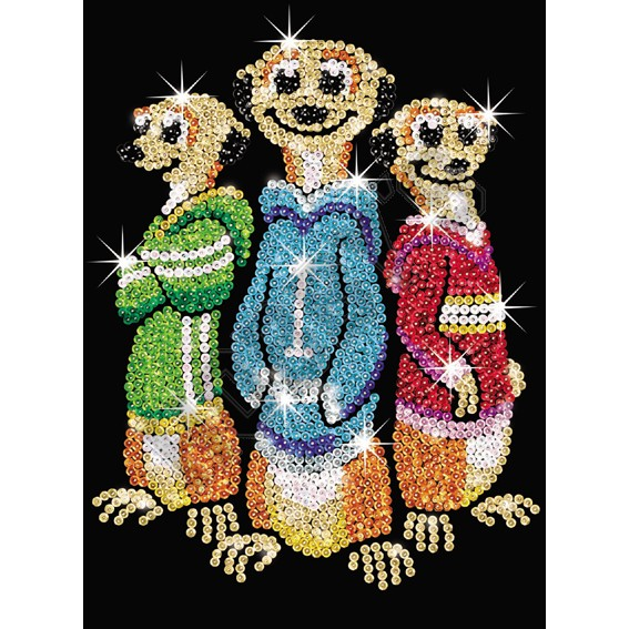 Meerkats - Sequin Art