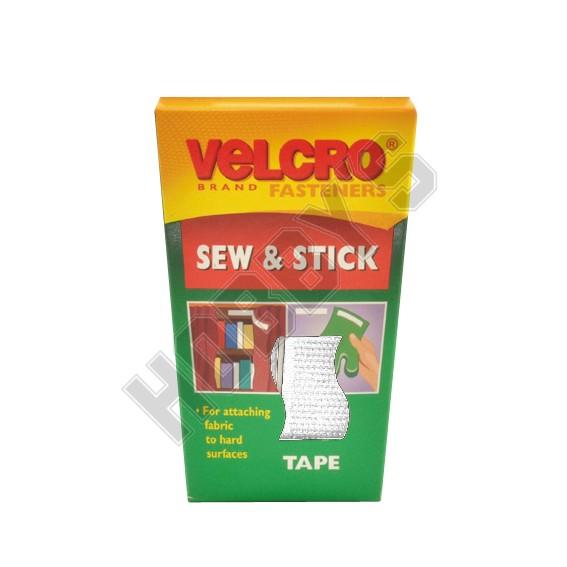 Velcro - Sew 'n' Stick - White