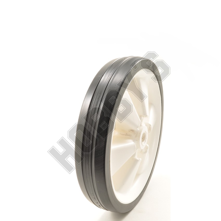White Centre/Black Ribbed Tyre