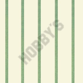 Stripe Wallpaper - Blue On Ivory