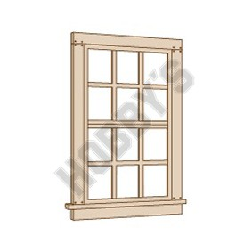 6/6 Double Hung Window