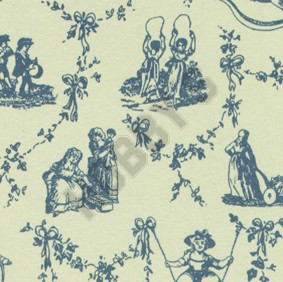 Childs Play Wallpaper - Blue On Ivory