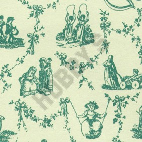 Child's Play Wallpaper - Green On Ivory