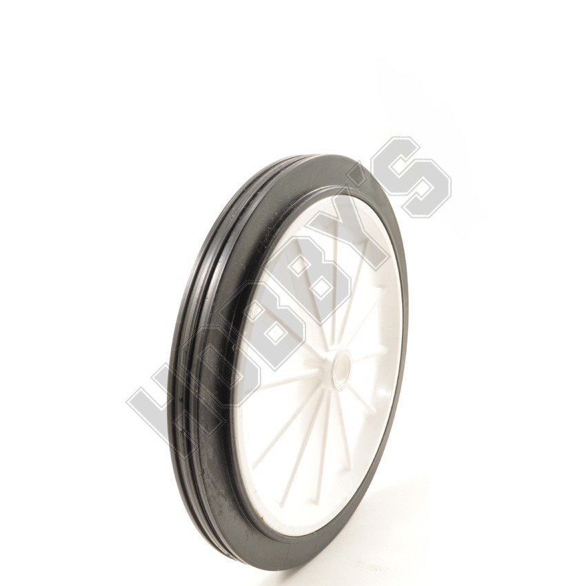 Spoked White Center Black Tyre