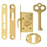 Brassed Cabinet Lock and Key Set