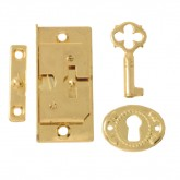 Brassed Box Lock and Key Set