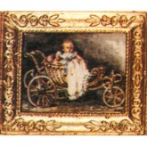 Victorian Baby in Pram - Picture