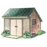 Saltbox Storage Shed Plan