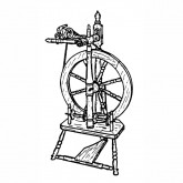 Upright Spinning Wheel Plan