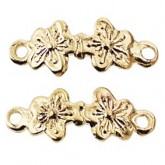 Gold-Plated Double Flower Drawer Pull