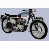 Triumph Bonneville 120R - Cross Stitch