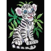 White Tiger - Sequin Art