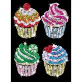 Cupcakes - Sequin Art