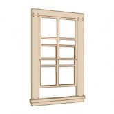 4/4 Double Hung Window