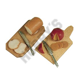 Cheese And Bread On Board