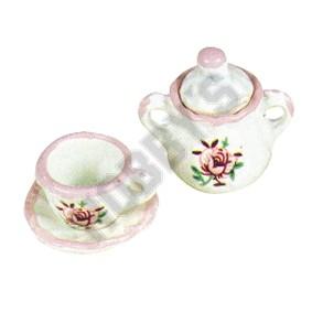 Cup,Saucer & Sugar Bowl - Rose Pattern
