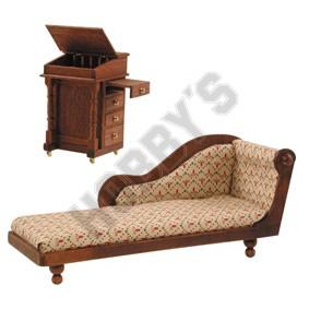 Davenport Desk & Chaise Longue Plan