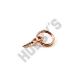 Coppered Screw Eye Rings