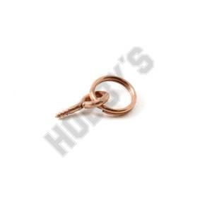 Coppered Screw Eye Rings