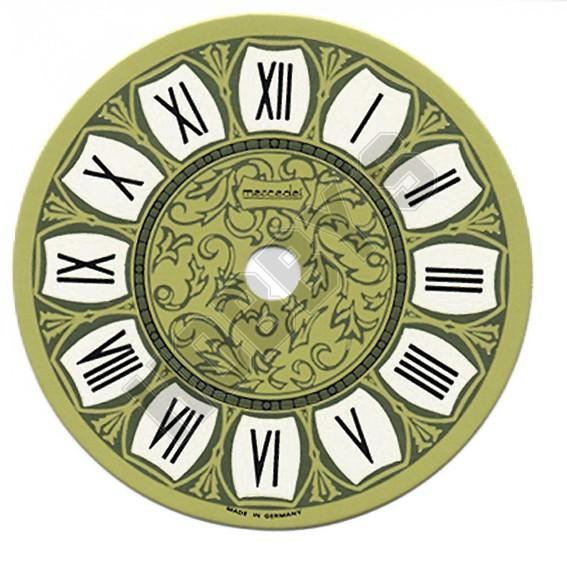 Printed Clock Dial - Gold/Black