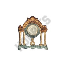 Mantle Clock - Metal Miniature