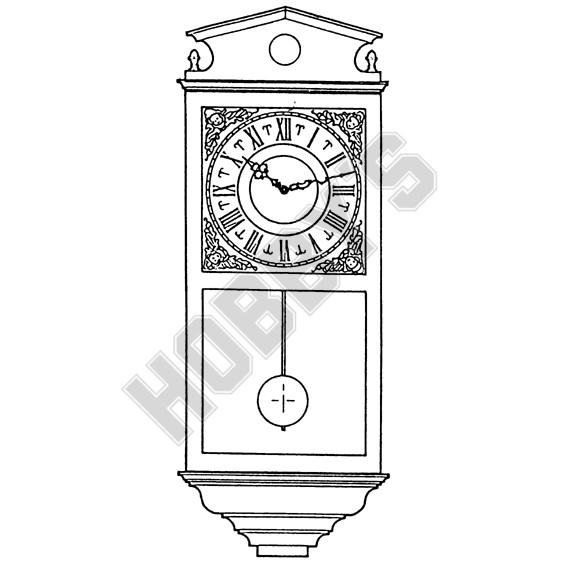 Full Cased Wall Clock Plan