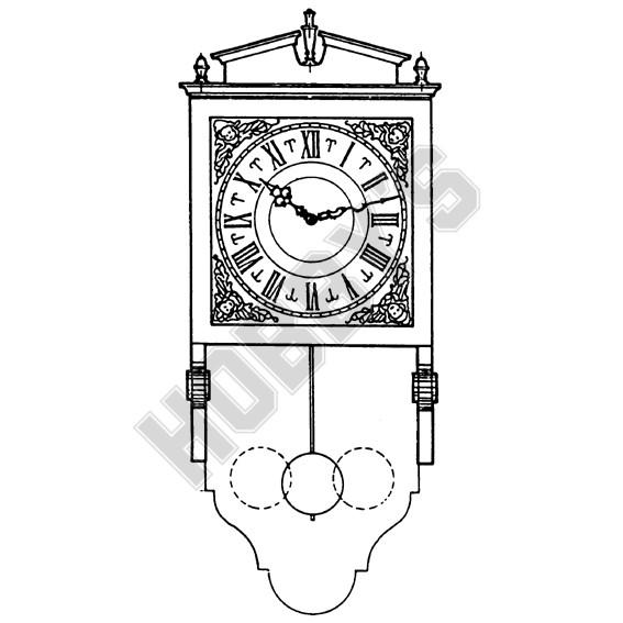 Half Cased Wall Clock Plan (