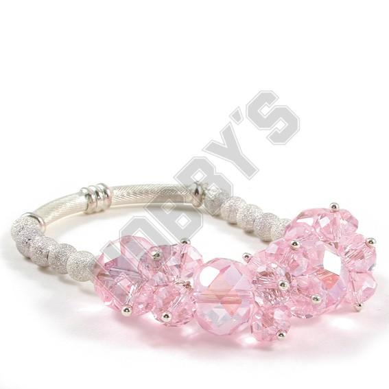 Chunky Silver Crystal Bracelet