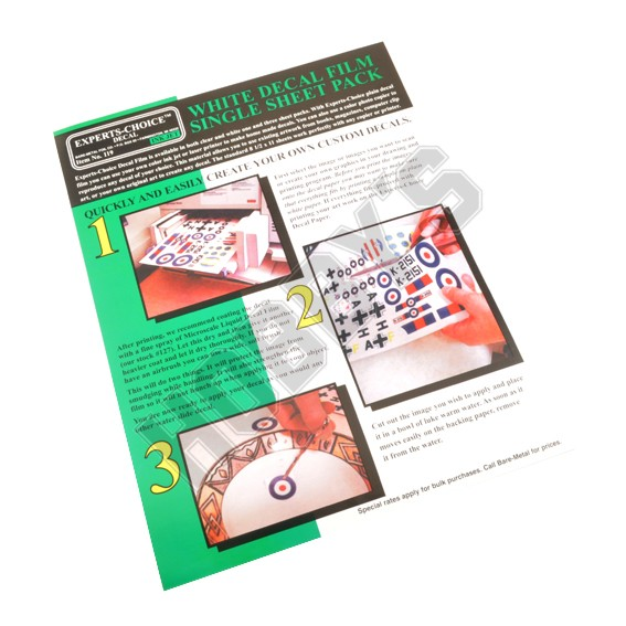 White Decal Paper - Sheet
