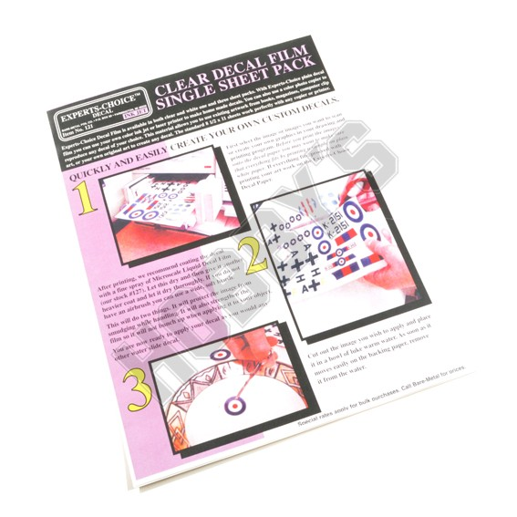 Clear Decal Paper Sheet