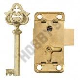 Brass Plated Key & Steel Lock