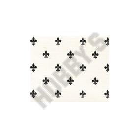 Fleur De Lys Wallpaper - Black