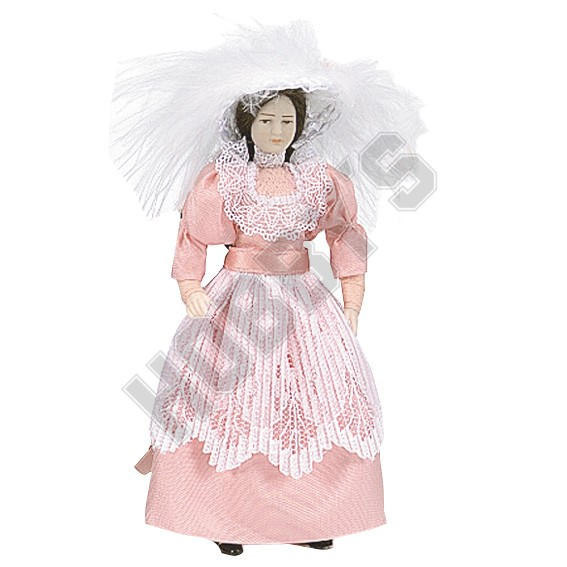 Lady In Party Dress With Hat