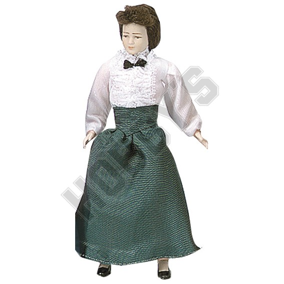 Lady In Skirt and Blouse