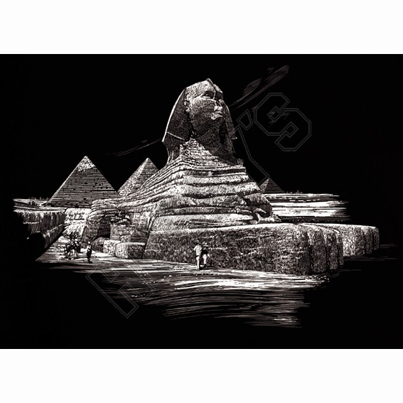 The Sphinx - Engraving Art