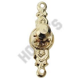 Gold-Plated Round Doorknob
