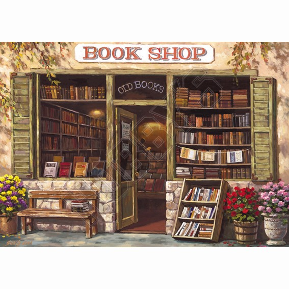 The Book Shop & Antiques Jigsaw Puzzle