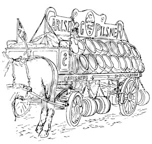 Carlsberg Beer Waggon Plan